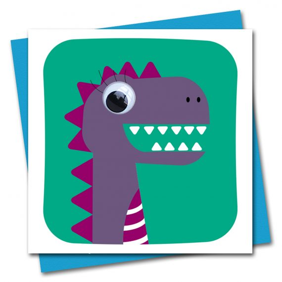 179-Dinosaur-Debs-Green-Birthday-Card-Stripey-Cats