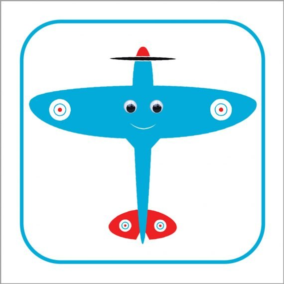 Spike Spitfire Personalised Plane Clock by Stripey Cats