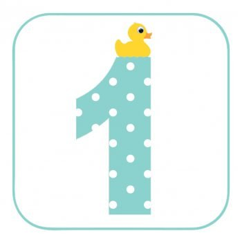 Age 1 Duck Birthday Card