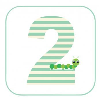 Age 2 Caterpillar Birthday Card