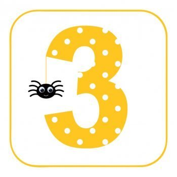 Age 3 Spider Birthday card