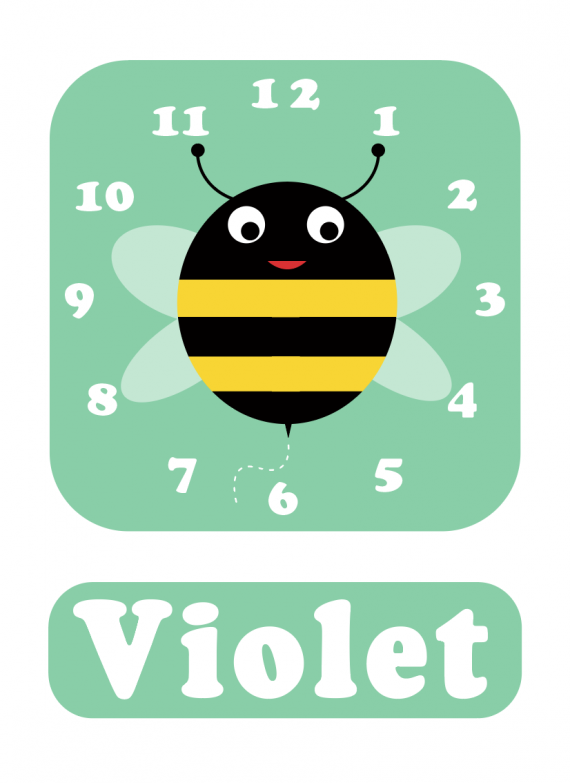 Bee clock Spearmint Green