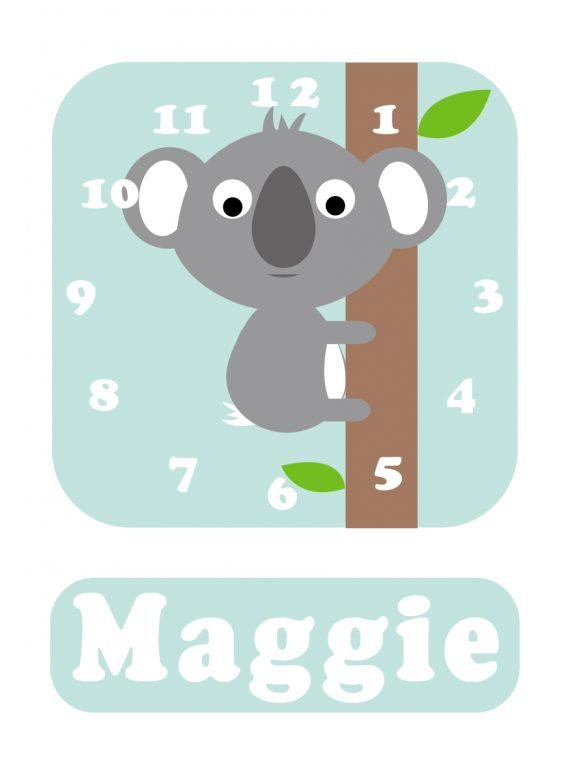 Koala Clock Spearmint Blue-01
