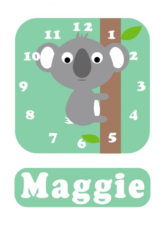 Koala Clock Spearmint Green-01