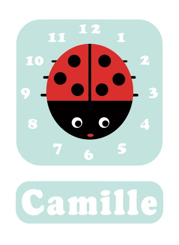 Ladybird Clock Spearmint Blue-01