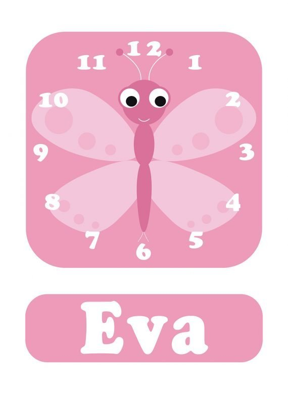 Stripey-cats-Butterfly-Clock-Pink-01