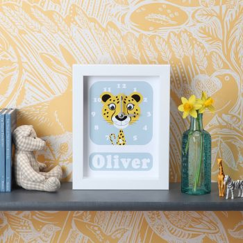 Stripey-cats-Cheetah-Clock