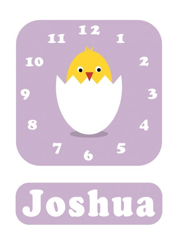 Stripey-cats-Chick-Clock-Lilac-01