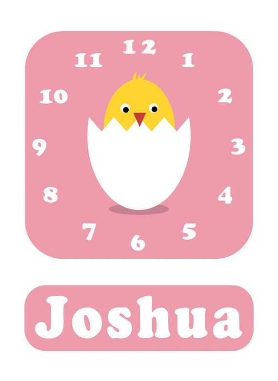 Stripey-cats-Chick-Clock-Pink-01