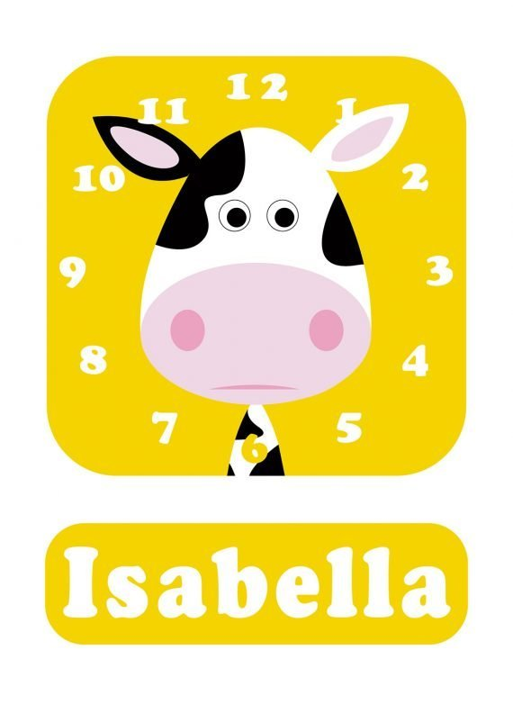 Stripey-cats-Cow-Clock-Yellow-01