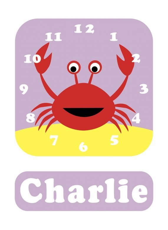 Stripey-cats-Crab-Clock-Lilac-01