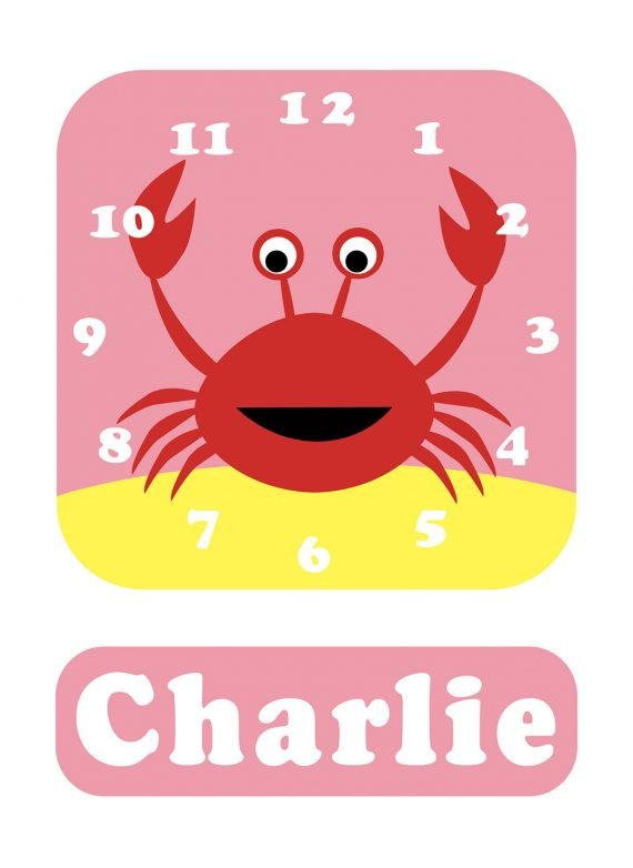 Stripey-cats-Crab-Clock-Pink-01