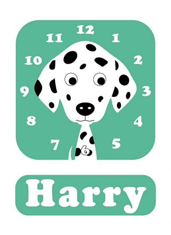 Stripey-cats-Dalmatian-Clock-01