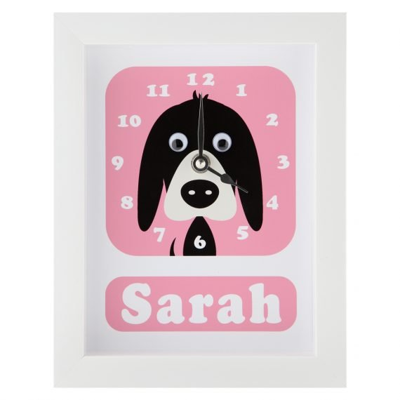 Stripey-cats-personalised-Dog-Clock