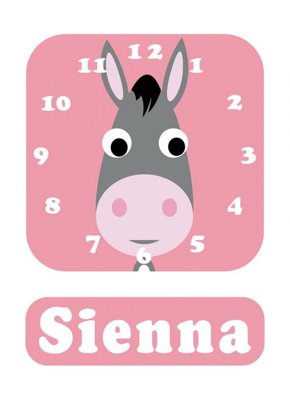 Stripey-cats-Donkey-Clock-Pink-01