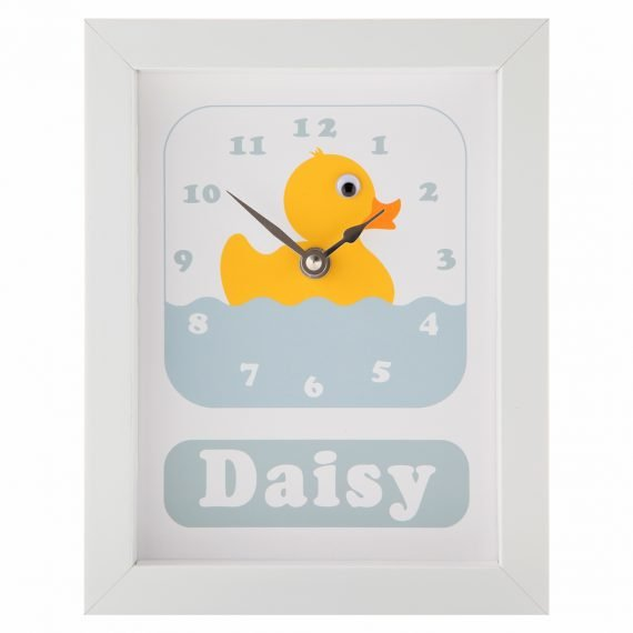 Stripey-cats-Personalised-Duck-Clock