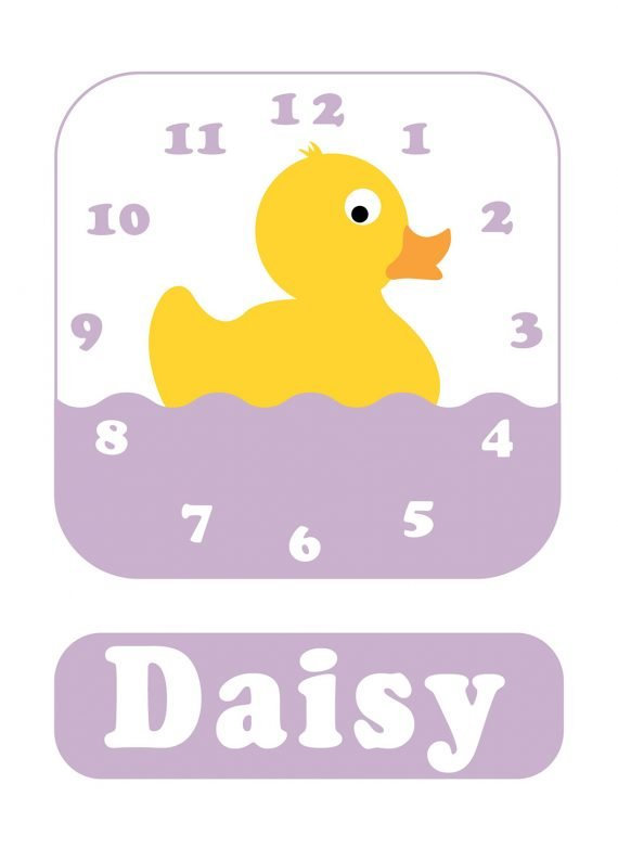 Stripey-cats-Duck-Clock-Lilac-01