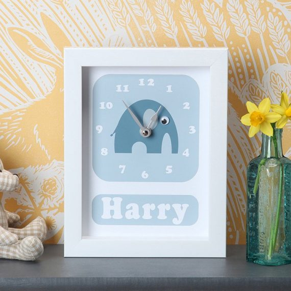 Stripey-cats-personalised-Elephant-Clock