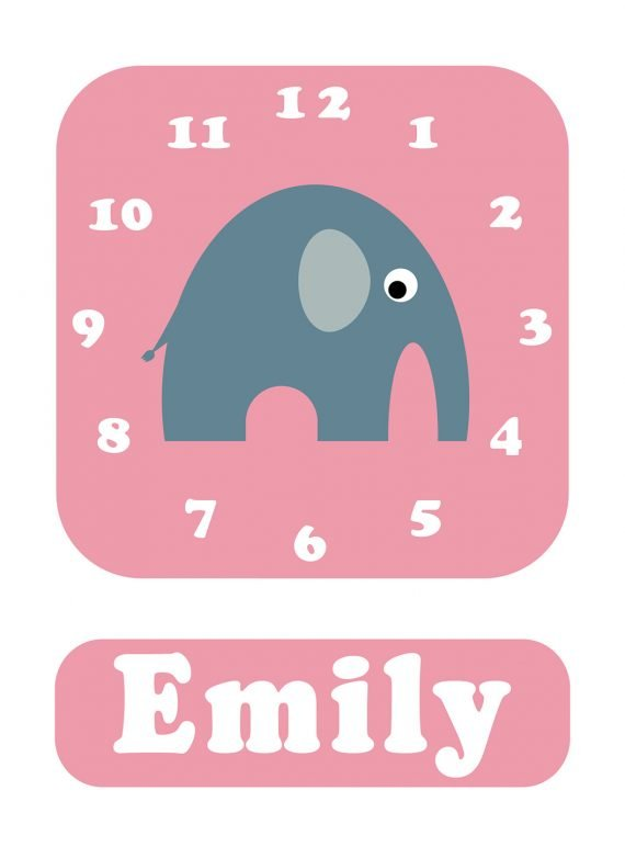 Stripey-cats-Elephant-Clock-Pink-01
