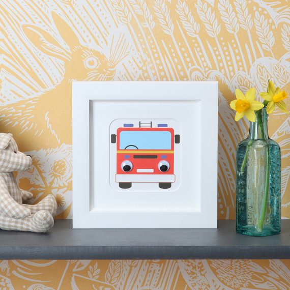 Stripey-cats-Fire engine frame