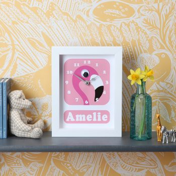 Stripey-cats-Flamingo-Clock