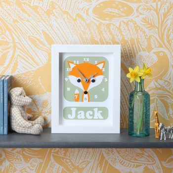 Stripey-cats-Fox-Clock