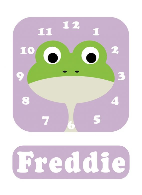 Stripey-cats-Frog-Clock-Lilac-01