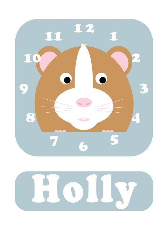 Stripey-cats-Hamster-Clock-Blue-01