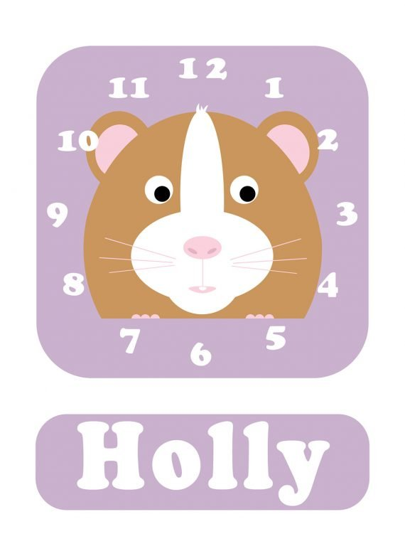 Stripey-cats-Hamster-Clock-Lilac-01