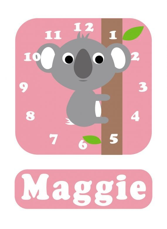 Stripey-cats-Koala-Clock-Pink-01
