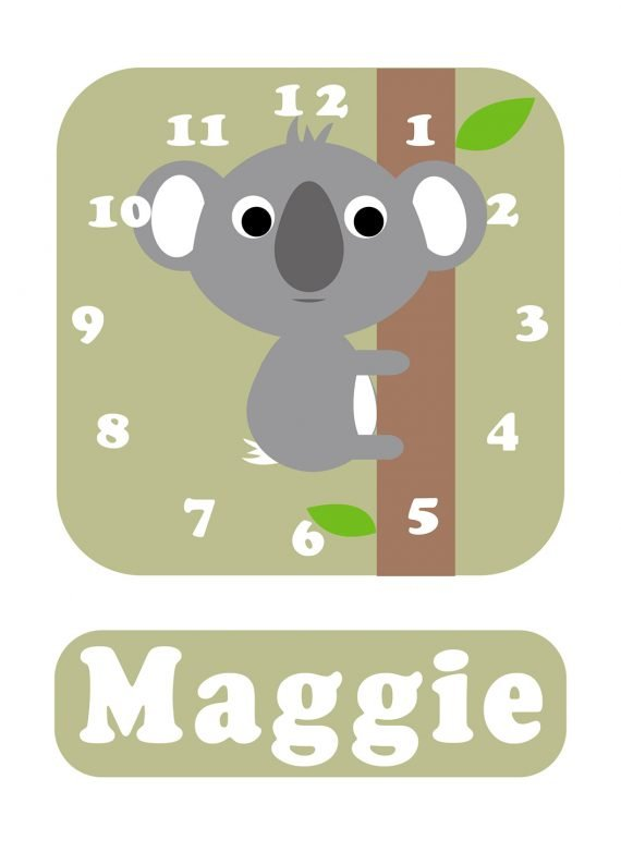 Stripey-cats-Koala-Clock-green-01