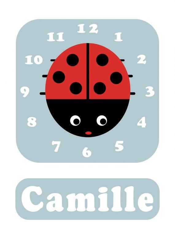 Stripey-cats-Ladybird-Clock-Blue-01