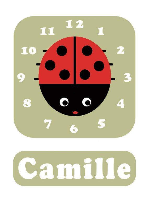 Stripey-cats-Ladybird-Clock-Green-01
