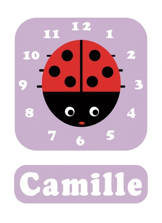 Stripey-cats-Ladybird-Clock-Lilac-01