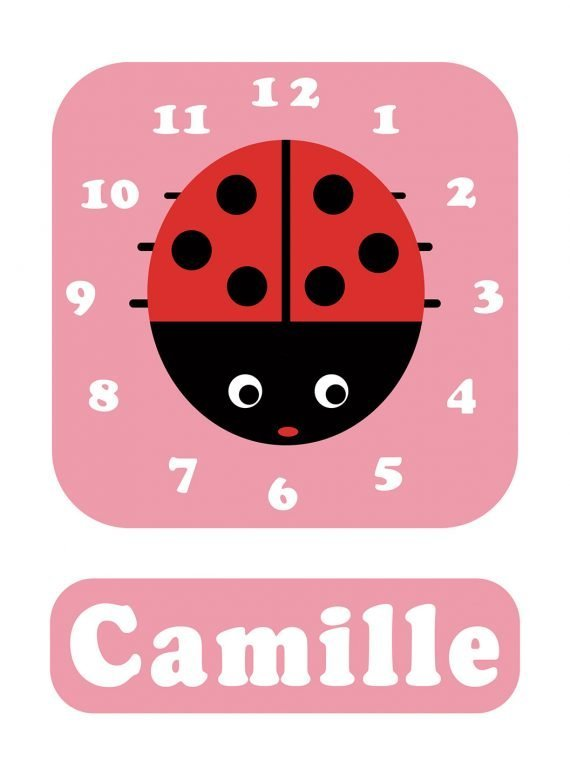 Stripey-cats-Ladybird-Clock-Pink-01