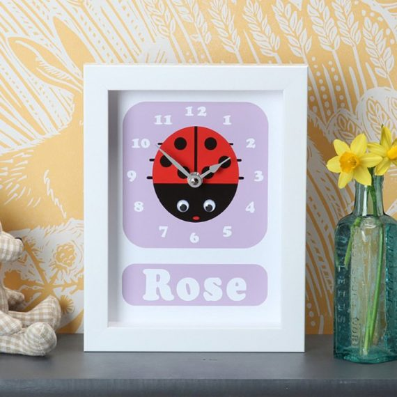 Stripey-cats-Personalised-Ladybird-clock