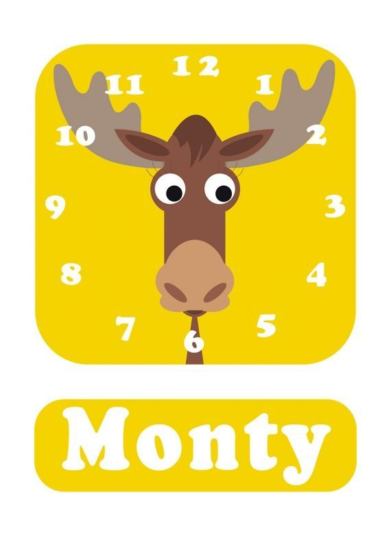 Stripey-cats-Moose-Clock-Yellow-01
