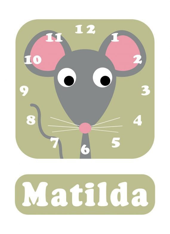 Stripey-cats-Mouse-Clock-Green-01