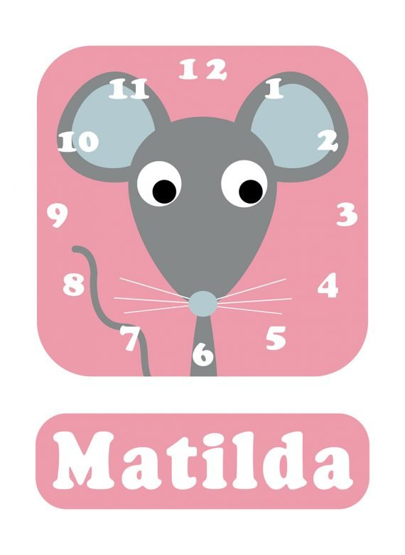Stripey-cats-Mouse-Clock-Pink-01