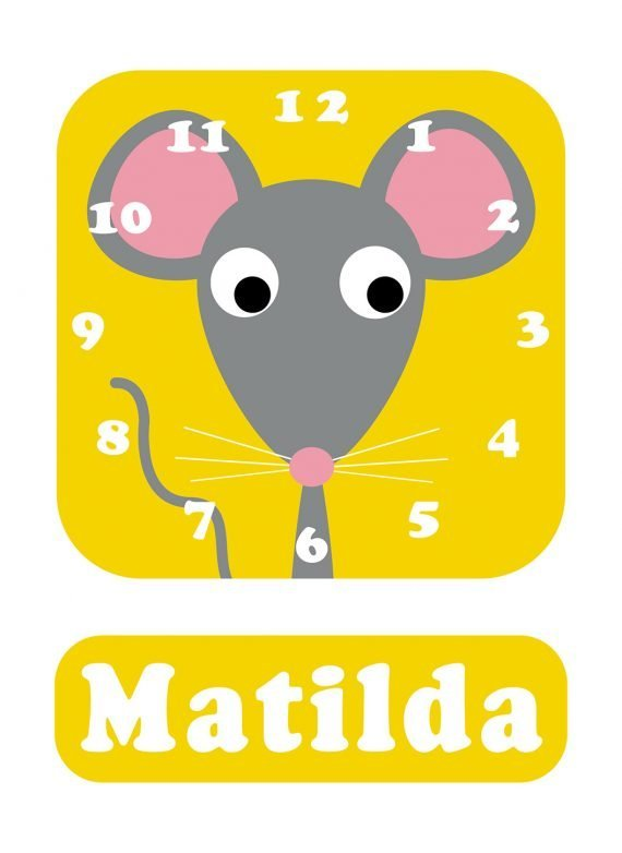 Stripey-cats-Mouse-Clock-Yellow-01