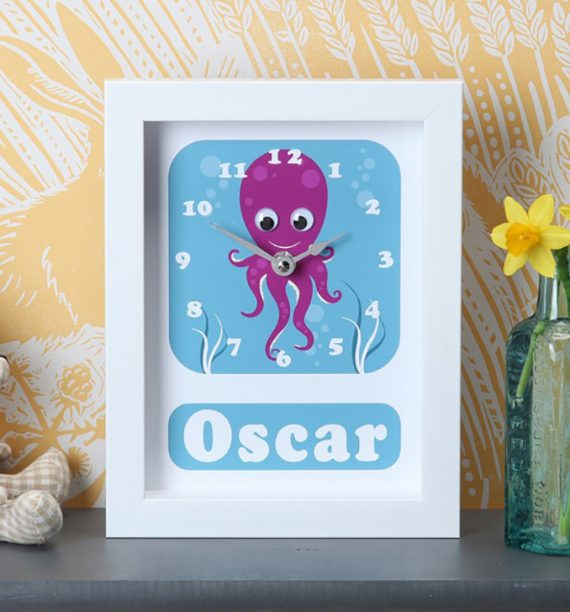 Stripey-cats-Octopus Clock