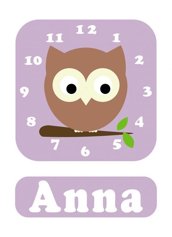 Stripey-cats-Owl-Clock-Lilac-01