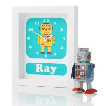 Stripey-cats-Personalised-Robot-Clock-Ray-Side