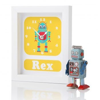 Stripey-cats-Personalised-Robot-Clock-Rex-Side