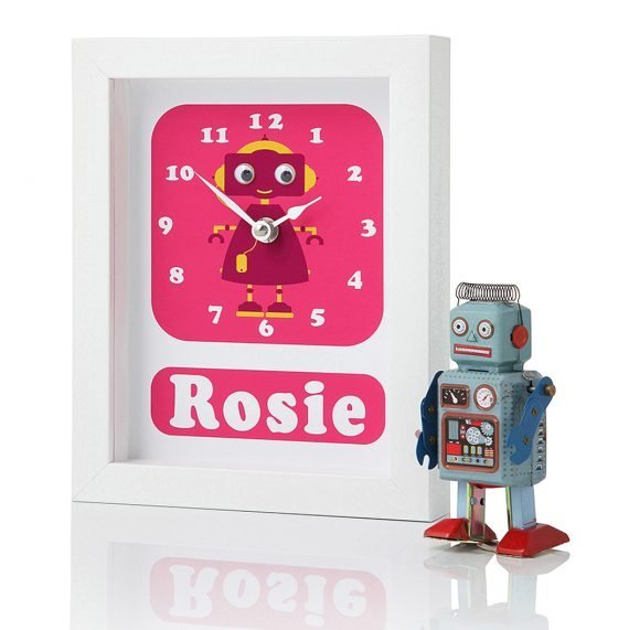 Stripey-cats-Personalised-Robot-Clock-Rosie-side