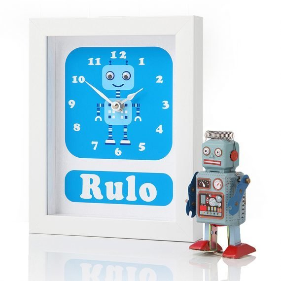 Stripey-cats-Personalised-Robot-Clock-Rulo-Side