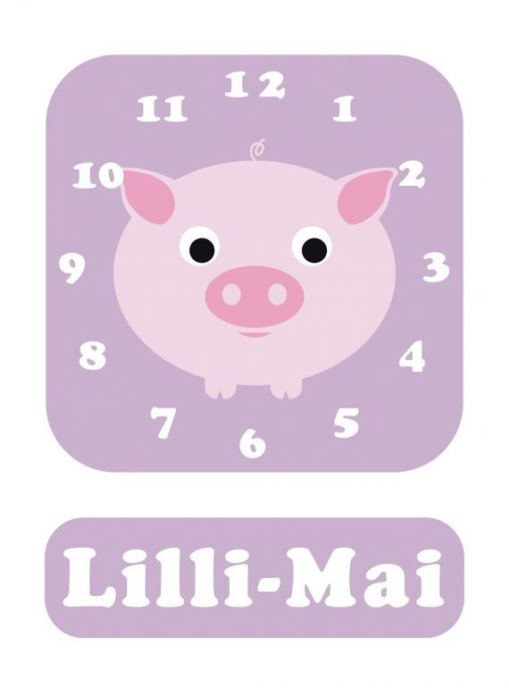 Stripey-cats-Pig-Clock-Lilac-01
