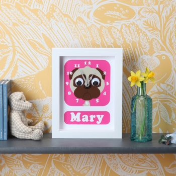 Stripey-cats-personalised-pug-clock