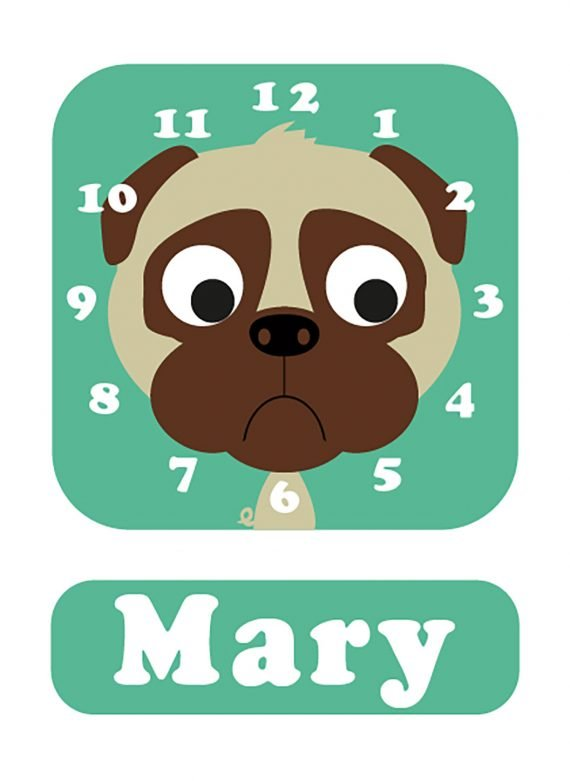 Stripey-cats-Pug-Clock-mint-01
