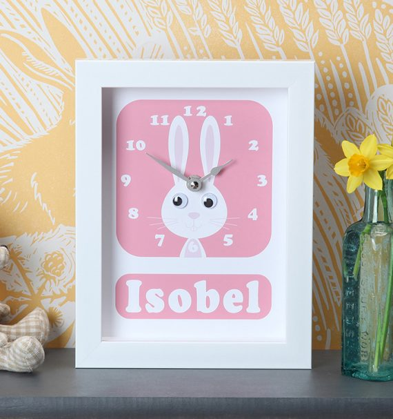 Stripey-cats-Personalised-Rabbit-Clock